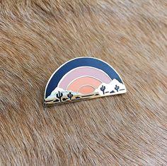 Desert Sunset Pin