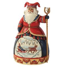 Enesco Jim Shore Heartwood Creek Lapland Santa with Sleigh Scene Figurine, 10-Inch Enesco http://www.amazon.com/dp/B008BHXA6K/ref=cm_sw_r_pi_dp_--wgwb13RG6K7