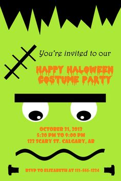 Halloween party trick or treater invitations halloween parties kids halloween party invitation stopboris Images