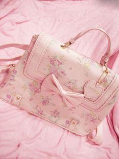 Pastel pink purse