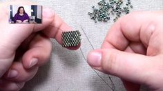 Video: peyote decreases on the outside of a row by Jill Wiseman.  #Seed #Bead #Tutorials