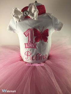 1st Birthday OutfitBaby Girl by SweetpeasBowsNmore on Etsy