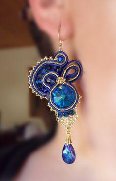 Soutache earrings  SerenIdea Creativa  by Serena Di Mercione