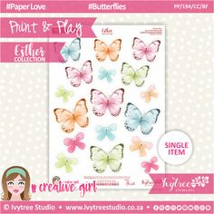 Cute Cuts, Printable Paper, Order Prints, Card Stock, Paper Crafts, Butterfly, Printables, Creative, Collections