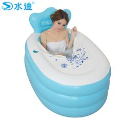Folding inflatable bath tub bathtub thickening non adult baby bath ...