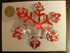 Items similar to Recycled Soda Can - Coke Coca-Cola Drink Snowflake Christmas Tree Ornament on Etsy Aluminum Can Crafts, Metal Crafts, Recycled Art Projects, Recycled Crafts, Pop Can Crafts, Diy And Crafts, Diy Christmas Ornaments, Holiday Crafts, Coca Cola
