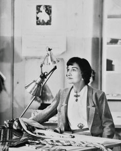 Coco Chanel - Vogue in 1954 by Henry Clarke