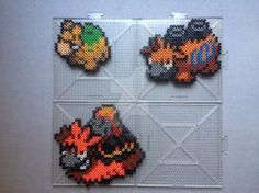 Numel Family Perlers by TehMorrison on DeviantArt Pearler Bead Patterns, Pearler Beads, Pixel Art, Hama Beads Pokemon, Crochet Pokemon, Melting Beads, Perler Bead Art, Fuse Beads, Bead Crafts