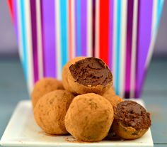 creamy, chocolatey and decadent chocolate truffles. They are only 55 guilt free calories