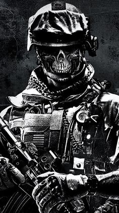 This wallpaper is shared to you via ZEDGE Military Drawings, Military Tattoos, Army Wallpaper, Skull Wallpaper, Dark Fantasy Art, Dark Art, Ghost Soldiers, Thanos Avengers, Deadpool Wallpaper