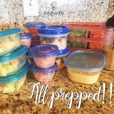 Ready for another week of healthy living!!   Got my veggies fruit salads all prepped and ready!  Yes!!  Have you taken the time to prepare for success?? Remember a goal without a plan is just a wish.