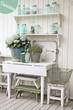 Inspiración vintage y romántica para la #decoración de las paredes de tu cocina en el tumblr Magical Home
