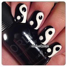 #Ying #Yang #nail #art #nailart #pretty #women #girl #fashion #beatiful