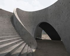 Swiss architects HHF designed a spiral lookout point for a pilgrimage route near Guadalajara in Mexico.