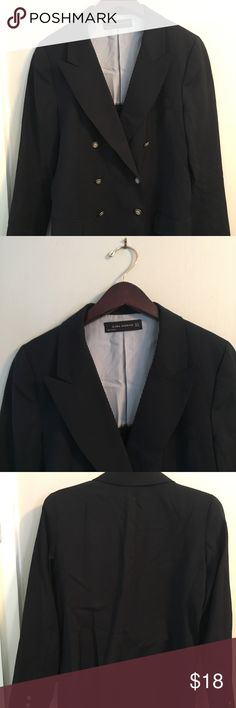 Women's Zara Blazer Navy Military Sz M Lapel Nice Zara Blazer. Military double breasted style. Sz m. Great look for spring.   Check out my other items.   Make me an offer!   Feel free to ask questions   Smoke free home   Item described to best of my knowledge Jackets & Coats Blazers