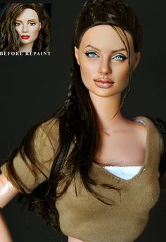 "DOLLS ANGELINA JOLIE E' LARA CROFT IN ""TOMB RAIDER""  DI NOEL CRUZ"