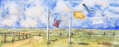 veredit - art©: Laundry Day in the North - #WorldWatercolorMonth 3...