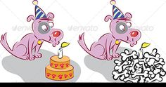 Realistic Graphic DOWNLOAD (.ai, .psd) :: http://jquery.re/pinterest-itmid-1004616713i.html ... Happy Birhday Dog ...  animal, birthday, birthday cake, birthday candle, blowing, blowing out, bones, cartoon, cheerful, congratulating, cute, dog, dog bone, flame, happiness, happy birthday, illustration, vector, wishing  ... Realistic Photo Graphic Print Obejct Business Web Elements Illustration Design Templates ... DOWNLOAD :: http://jquery.re/pinterest-itmid-1004616713i.html