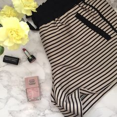 """{Ann Taylor} Striped Shorts Skinny stripes - and sporty details - make this?must-have?pair endlessly versatile.?Elasticized drawstring waist. Besom pockets. Back welt pockets. Contrast trim at waist and pockets. 4"""" inseam.  60% Rayon / 27% Polyester / 13% Nylon Machine Washable  ✂️ Measurements✂️ •  11 3/4"""" long • 14.5"""" Waist (un-stretched) • 17"""" Waist  (stretched)    Use Poshmark's new Bundle feature to purchase at a discount!  Ann Taylor Shorts"""
