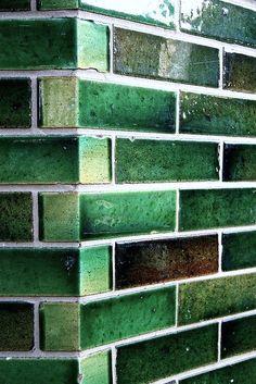 theleoisallinthemind:  Green Glaze Brick by Tom Lampe Photography on Flickr