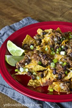Shredded beef and black bean nachos! Create an easy Mexican meal or snack with just a minutes and a few ingredients. The perfect snack for C...