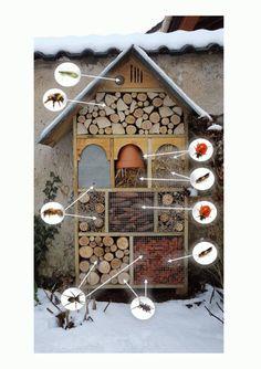 So baut man ein Insektenhotel - My creative garden decor list Bug Hotel, Garden Art, Garden Design, Garden Beds, Hydrangea Care, Diy Bird Feeder, Plantation, Garden Projects, Bird Houses