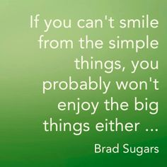 enjoy the simple things.