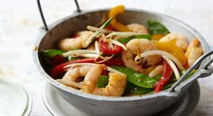 THE FAST DIET: 5-2 Recipes:SPICY PRAWN STIR-FRY,300-500 calories, 5-2 diet, 5-2 recipes, fast weigh loss, five two diet, intermittent fasting, The fast diet, weight loss meals,