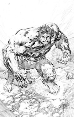 The Hulk by Philip Tan <-- I really like this pic. You can really see a bit… Comic Book Artists, Comic Artist, Comic Books Art, Marvel Comic Universe, Marvel Comics Art, Hulk Artwork, Hulk Sketch, Bruce Banner, Dr Banner