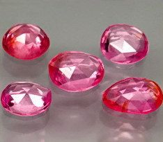 Candy Pink Rose Cut Spinels 5 Pc Suite 315 Carat TW by SilverFound, $37.50