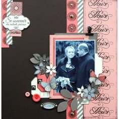 Discover recipes, home ideas, style inspiration and other ideas to try. Couple Scrapbook, Scrapbook Titles, Vintage Scrapbook, Wedding Scrapbook, Scrapbook Sketches, Diy Scrapbook, Album Photo Scrapbooking, Scrapbooking Layouts, Album Vintage