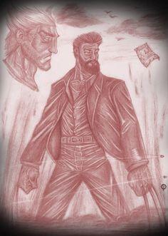 """Inspirado no filme """"Logan"""" que estréia em março no Brasil. Versão escaneada. - Arte: Leandro Sans.  - Estou aberto a comissão.  Duvidas, encomendas me envie um e-mail para: leandrosansarte@gmail.com - Para ver alguns trabalhos meus acesse: http://leandrosans.flavors.me"""