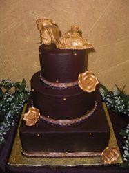 fudge wedding cake edible shoe