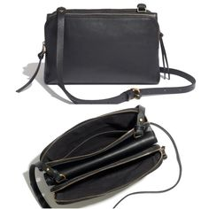Madewell THE TWIN-POUCH CROSSBODY in True Black Item #B2556. EUC! Carried only a few times. The perfect going out bag! Adding in-person pictures tonight! Madewell Bags Crossbody Bags