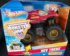 Hot Wheels Monster Jam 2012 Rev Tredz IRON MAN 30th Anniversary Official Monster Truck Series 1:43 Scale by Mattel. $17.99. 1:43 Scale (Medium Truck). Motorized Climbing Action. Spinning wheels and Realistic Revving sound. Official Monster Jam Truck. Rev 'em and Race 'em. Crush the Competition with this 1:43 scale Hot Wheels truck! Let the dirt fly with these ground-poundin Hot Wheels Monster Trucks. Rev up for total domination and destruction on the Monster Ja...