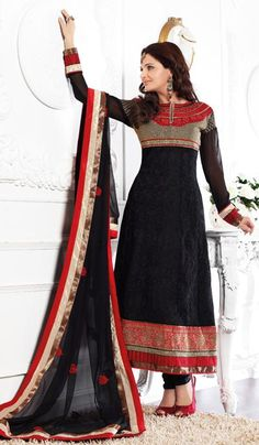 G3 fashions Black Georgette Party Wear Designer Salwar Suit  Product Code : G3-LSA105036 Price : INR RS 4942