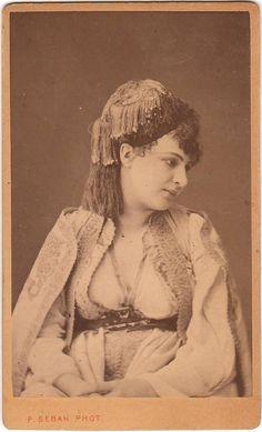 Sebah, Pascal - Dame grecque de Janina (Greek woman from Janina), 1870s, albumen print
