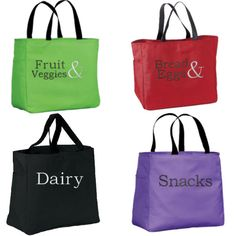 Reusable Grocery Totes Market Bags  Bridal by PersonalizedRidgetop