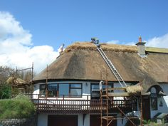 Giving Seabank Cottage a new ridge in Spring 2012