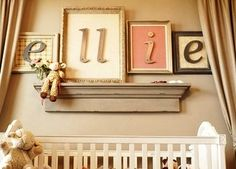 Name letters in frames