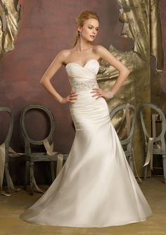 informal wedding dress from Voyage by Mori Lee Dress Style 6732 Crystal Beaded Duchess Satin