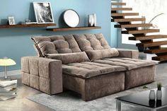 Resultado de imagem para sofa reclinavel retratil com bau