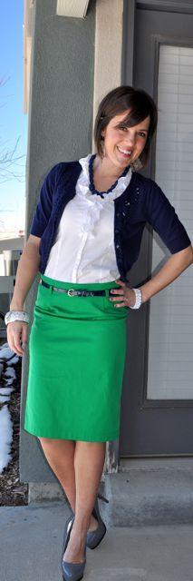 Skirt: Thistles Boutique, Button-Up- Loft, Cardi & Earrings: F21, Heels: Aldo, Necklace: Target, Bracelet: Charming Charlie, Watch- Nordstrom (BP)