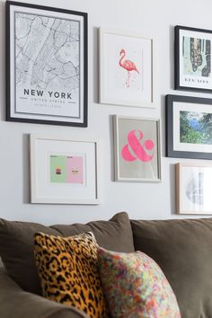 Studio Apartment York before and after: blank wall to gallery wall | gallery wall, nyc