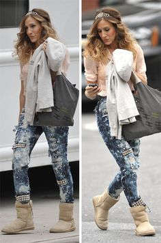 Paint splattered jeans are still awesome, I still have mine from Bebe 3 seasons ago!!