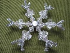 Pretty Crystals Snowflake | AllFreeChristmasCrafts.com Do it without the extra at end or use a thicker wire