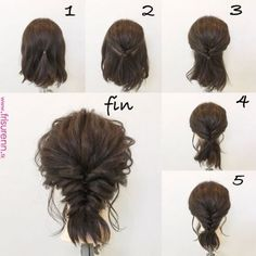 Es ist so niedlich kurzgeschlossen ♡ Genanntes Haar selbst in sich selbst gesetzt ...  #genanntes #gesetzt #kurzgeschlossen #niedlich… | DIY Hair Styl