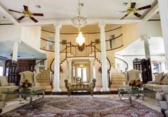Impressive from every angle beginning from the moment you enter the circle drive. Entertain your guests in the living room with marble floors & soaring ceilings. Watch your favorite program or sports in the den with family or friends. Step out of the master suite onto the balcony and enjoy the private view of your park like backyard, from the attention getting flower garden down to your own private park area on Spring Creek; create your own exciting nature trail. Cooking friendly kitchen…