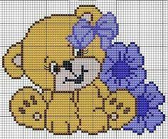 """[ """"Teddy bear x-stitch"""" ] #<br/> # #Teddy #Bear,<br/> # #Cross #Stitch,<br/> # #Embroidery,<br/> # #Children<br/>"""