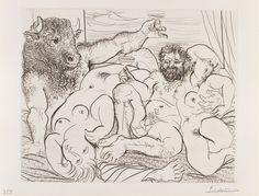 Escena báquica del minotauro, Picasso..PinIt : Anónimo de Piedra